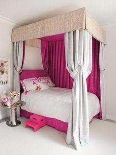 Too great! Gwyneth Paltrow's daughter's room in their Hampton's house Teenage Girl Bedrooms, Little Girl Rooms, Girls Bedroom, Bedroom Decor, Canopy Bedroom, Bedroom Ideas, Small Bedrooms, Bedroom Designs, Luxury Bedrooms