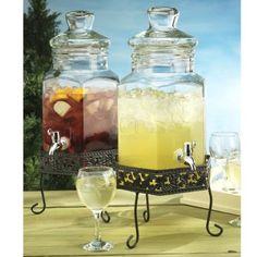 Amazon.com: Home Essentials 1818 Del Sol Jug Beverage Dispenser With Rack, 1.5-Gallon: Kitchen & Dining