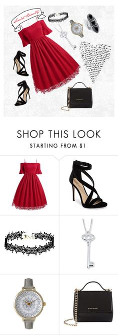 """""""Outfit: Scarlet Beauty"""" by mimi14senpai ❤ liked on Polyvore featuring Imagine by Vince Camuto, Olivia Pratt, Givenchy and Palm Beach Jewelry"""