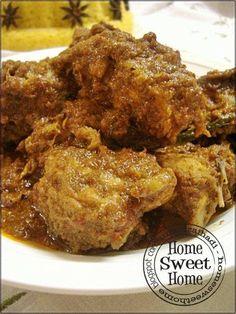 Home Sweet Home: Rendang Ayam Resepi Kak Liza