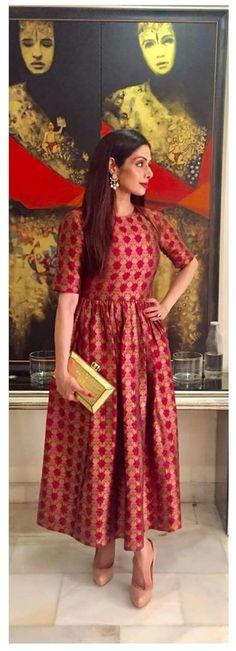 nice This Baar Baar Dekho look of beautiful Sridevi is a stellar! Western Dresses, Indian Dresses, Indian Outfits, Ethnic Dress, Indian Ethnic Wear, Fashion Show Dresses, Fashion Outfits, Dress Fashion, Kurta Designs