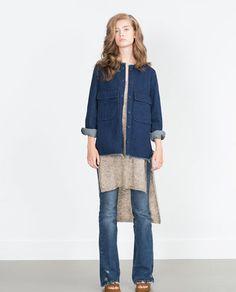 Image 1 of DENIM OVERSHIRT from Zara