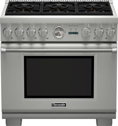 Thermador 36 Inch Pro Grand Professional Series Freestanding Liquid Propane Gas Range with 6 Sealed Burners, Cu. Convection Oven Capacity, 3 Telescopic Racks, and QuickClean Base: Stainless Steel Large Oven, O Gas, Range Cooker, Oven Range, How To Cook Pasta, Food Preparation, No Cook Meals, Designer, Kitchen Appliances