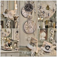 I think these printed vintage looking time pieces would look great with my family photo wall