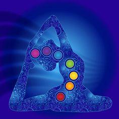 Yoga Pose Chakra Art by SerenaKingDesigns on Etsy