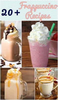 National Frappe Day – Over 20 Frappuccino Recipes Check out over 20 frappuccino recipes, including Starbucks Copycat recipes! Vanilla Frappe Recipes, Vanilla Frappuccino, Starbucks Vanilla, Starbucks Recipes, Starbucks Coffee, Chocolate Frappe Recipe, Mocha Frappe Recipe, Starbucks Drinks, Blended Coffee Recipes