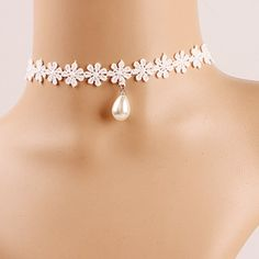 pearl drop choker                                                                                                                                                                                 More