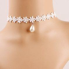 pearl drop choker