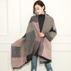 http://www.buyhathats.com/plaid-scarf-womens-cashmere-oversized-shawl-winter-pink.html