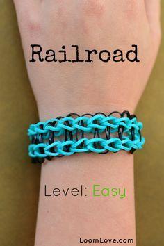 How to Make a Railroad Bracelet #rainbowloom