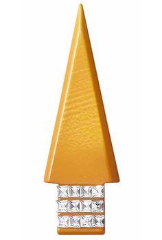 Galalith butterscotch Bakelite Christmas Tree Pin, c. 1940