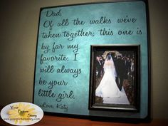 Personalized Father of the Bride Picture Frame by YourPictureStory, $60.00