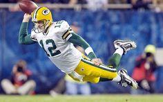 Aaron Rodgers can fly! Wheeee!