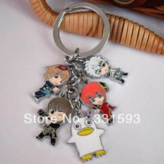 Wholesale Japanese Anime Manga Gintama Metal Toys Figure Keychain Key Ring For Christmas Gifts $55.82 | DHgate.com