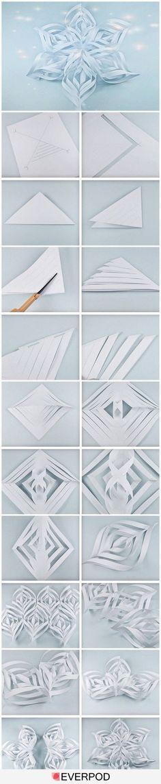 Étoile des neiges en papier
