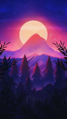 Sunrise Mountain Scenery iPhone Wallpaper - iPhone Wallpapers