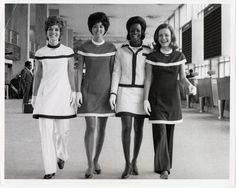 American Airlines Flight Attendants stroll through the terminal. Thats gonna be me someday