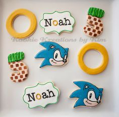 Sonic the Hedgehog cookies - Kookie Kreations by Kim