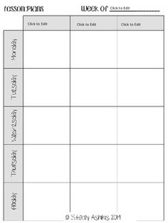 Weekly planning template for morning meeting can be used for Morning meeting lesson plan template
