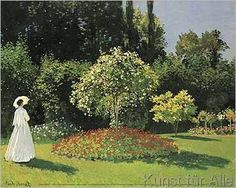 Claude Monet - Woman in the Garden