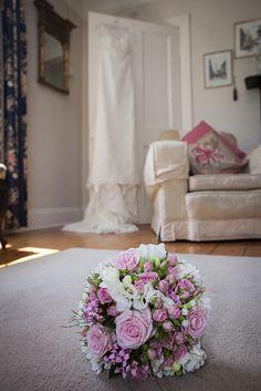 wedding dress and flowers Lace Wedding, Wedding Dresses, Weddings, Flowers, Fashion, Bride Dresses, Moda, Bridal Gowns, Fashion Styles