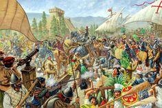 1521, Hernán Cortés junto a sus hombres y aliados indígenas toman Tenochtitlan, cortesía de James Field. http://www.elgrancapitan.org/foro/viewtopic.php?f=21&t=16835&p=917099#p917004