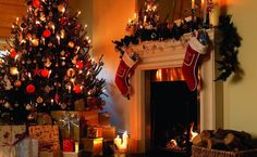 christmas_tree_gifts_candles_fireplace_firewood_stockings_christmas_holiday_41413_1920x1180.jpg (1920×1180)