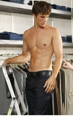 Liam working in the pants store! Sexy as hell!
