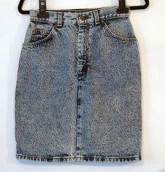 Vintage Levi's Acid Wash Denim Skirt S by NativeLilacVintage, $25.00