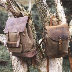 canvas backpack rucksack bag by Scaramanga #mensstyle #accessories #vintage #leather