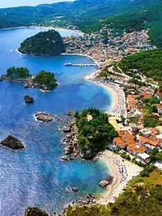 Parga lies on the Ionian coast between the cities of Preveza and Igoumenitsa. It is a resort town known for its scenic beauty. (source Wikipedia)
