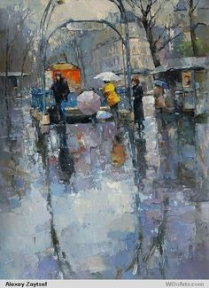 Kai Fine Art is an art website, shows painting and illustration works all over the world. Watercolor Landscape, Landscape Paintings, Watercolor Art, Russian Painting, Figure Painting, Culture Russe, Bayer Ag, Icelandic Artists, Umbrella Art