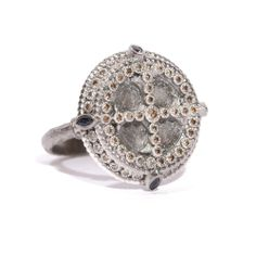 #Armenta New World #SterlingSilver #Sapphire & #Diamond Shield #Ring