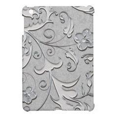 Sold: Decorated Silver Scolls Case For The iPad Mini by Graphic Allusions #ipad #ipadmini
