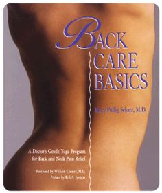 Book: Back Care Basics - This book is great for detailed explanations on asanas, as well as good guide for basic stretches to work back to a more mobile body.  Very well-written with a nice emphasis on the relaxation response and manifestations of mental stress on the physical body.