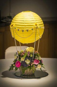 My beautiful wedding table centres hot air balloons