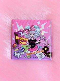 Broken Doll Badge (Square) Pink. See more at http://www.cdjapan.co.jp/apparel/brokendoll.html  #harajuku #Broken Doll