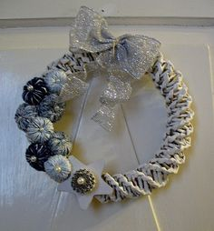 Button Xmas wreath #1