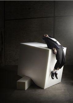 geometric shapes-- boxes...  SUBSTANCE  New Fashion Editorial for Amusement Magazine /Art Direction & Set Design   by BONSOIR PARIS