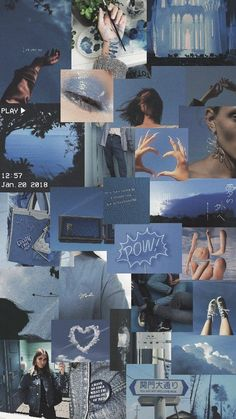 Blue Wallpaper iPhone Source by sanandari Blue Aesthetic Pastel, Aesthetic Pastel Wallpaper, Aesthetic Colors, Aesthetic Collage, Aesthetic Backgrounds, Aesthetic Wallpapers, Aesthetic Vintage, Aesthetic Dark, Aesthetic Painting