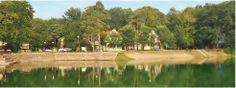 """Glavno jezero, pogled na apartmansko naselje """"Auto kamp"""", Bela Crkva"""