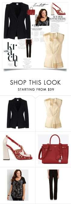 """entrevista"" by aguiar-pilutti on Polyvore featuring moda, Armani Collezioni, Comme des Garçons, Gucci, Yves Saint Laurent, maurices y Acne Studios"