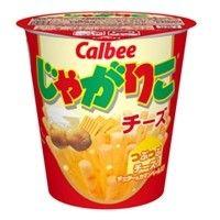 Calbee Jagariko. Cheese flavor. The ingredients are 100% Japanese potato and popular salt.