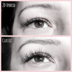 3afec22f390 Same client, different eye design. With eyelash extensions you can achieve  many different looks