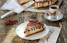 Cheesecake la rece, cu ananas si ciocolata - LauraSweets.ro Cheesecakes, Tiramisu, Biscuit, Waffles, Caramel, Breakfast, Ethnic Recipes, Food, Sticky Toffee
