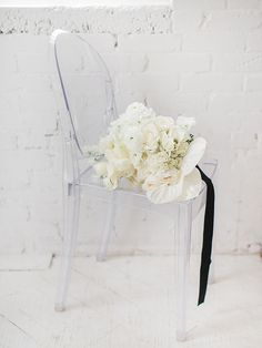 Architectural Inspired White Bridal Bouquet