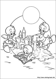 Donald coloring picture