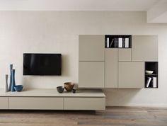 home made furniture Living Tv, Living Room Wall Units, Living Room Modern, Home Living Room, Living Spaces, Modern Tv Cabinet, Modern Tv Units, Home Goods Decor, Home Decor