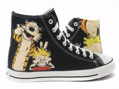 Zapatillas Calvin & Hobbes by www.pimpamcreations.com
