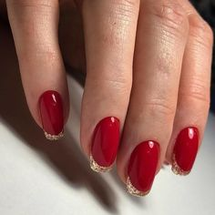42 coffin – ballerina style nails page- 8 ~ mantulgan. Holiday Nail Designs, Red Nail Designs, Holiday Nails, Christmas Nails, Red Manicure, Gel Nails, Classy Nails, Trendy Nails, Diy Vernis